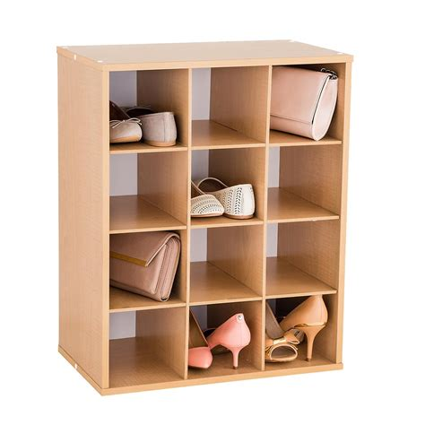 shoe storage organiser 12 pair shoe organizer the container store