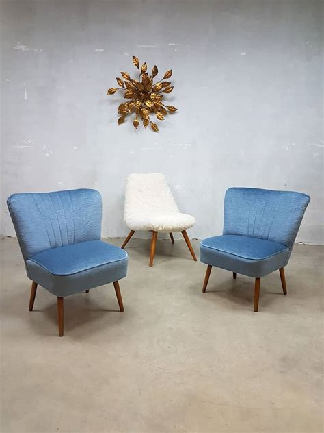 mid century schlafzimmer set mid century blue velvet chairs 1950s set of 2 for sale