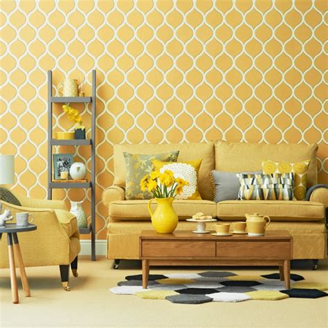 Yellow And Grey Living Room Ideas by Bright Yellow Living Room Housetohome Co Uk