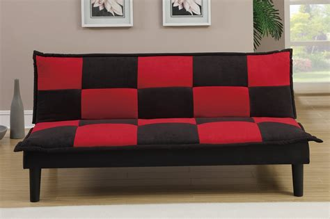 red fabric twin size sofa bed steal a sofa furniture