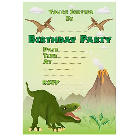 best photos of dinosaur birthday invitation templates free