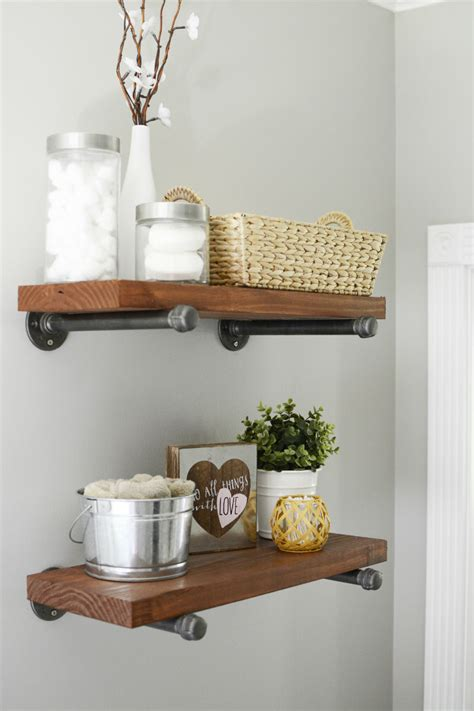 farmhouse shelves diy modern farmhouse wood metal shelves the modern tulip