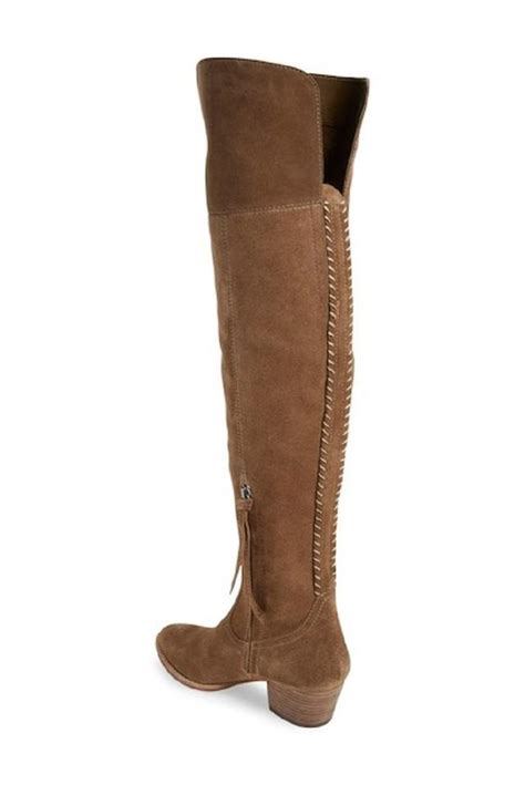 dolce vita khaki silas suede leather the knee boots