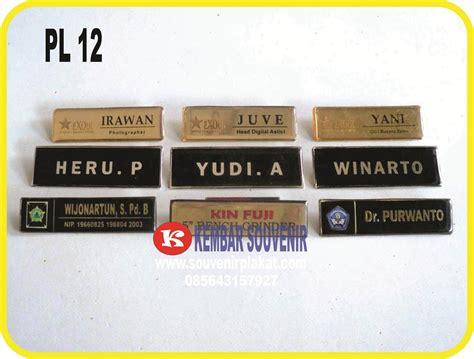 Nama Dada Name Tag Kuningan Resin Peniti Produk 10 jual name tag nama dada name tag