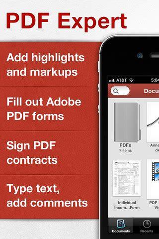 4 applicazioni per modificare pdf su iphone e