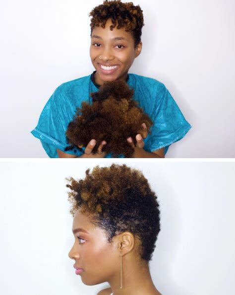 cut before dye hair short tapered cut for natural hair before and after
