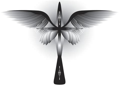 tattoo crosses with wings these cross tattoos with wings are sure to look uniquely