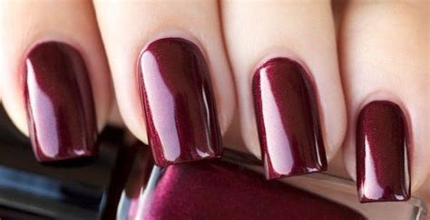 burgundy nail color fall winter nail color trends you to try right away
