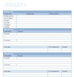 minutes template for meeting simple meeting minutes template