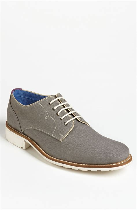 buck shoes ted baker tich buck shoe in gray for grey canvas lyst