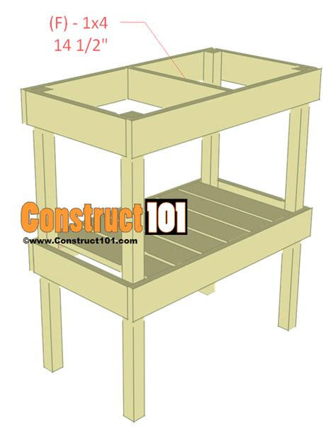 bbq table plans construct101