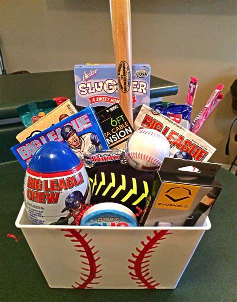 themed gift baskets ideas baseball themed gift basket baseball pinterest