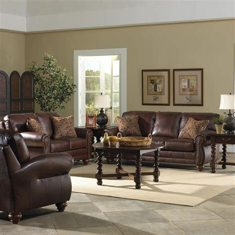 best home furnishings noble traditional leather loveseat