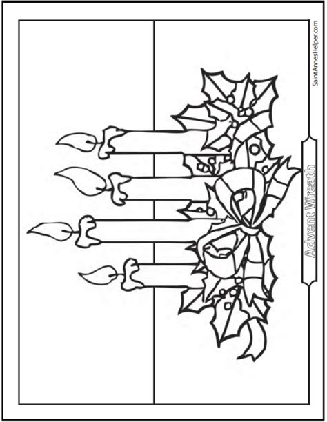 advent wreath candles coloring page roman catholic advent season four joyful weeks before