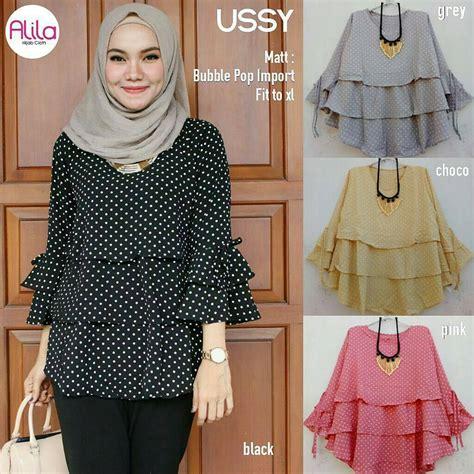 Busana Wanita Pakaian Baju Blouse Chanel Murah busana muslim murah ussy blouse grosir baju muslim