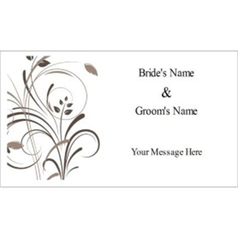 avaery business card word template 8877 templates wedding swirls tag on business card