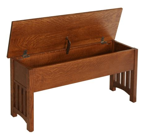 amish storage bench 24 quot 60 quot mission storage benches amish furniture factory
