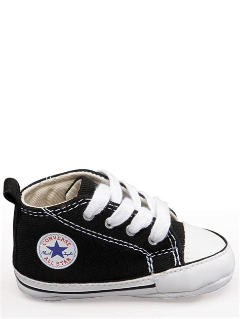 converse shoes size 1 converse all black white baby crib infant shoes boy