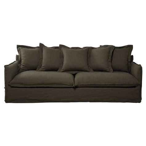 olive green couches 5 seater washed linen sofa in olive green barcelone