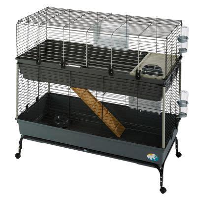 gabbie per conigli nani offerte gabbia per roditori vital 120 a 2 piani zooplus