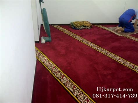 Karpet Mushola pemasangan karpet handmade mushola pt kobelco