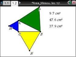 activity: exploring the pythagorean theorem: geometry: ti
