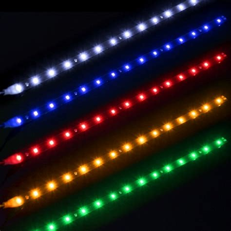 Orange Led Light Strips 30cm 15 Led Waterproof Car Light Dc 12v Orange Light Alex Nld