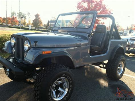 amc jeep cj7 1982 jeep cj7 amc 360 frame off restoration