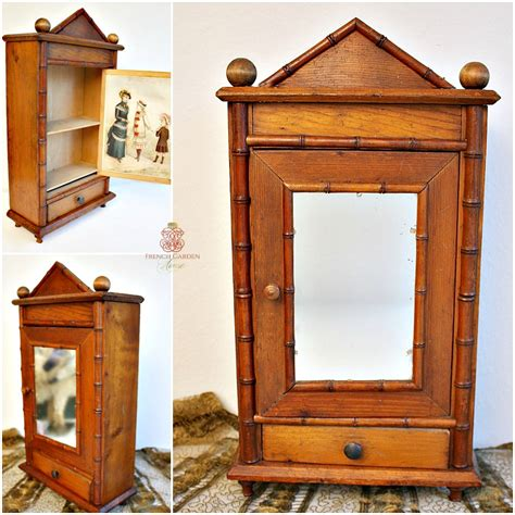 doll armoires antique french faux bamboo doll armoire