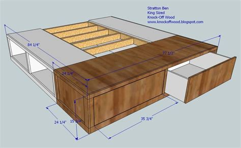 diy king size bed frame plans platform quick woodworking projects