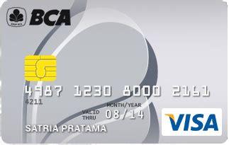 bca visa debit kartu kredit bca visa silver jaringan visa pilihkartu com