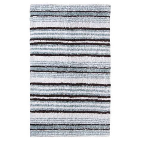 O Brien Bath Rugs by O Brien Blue Brown Striped Bath Mat Blue And