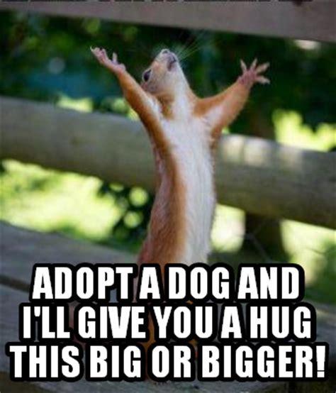 Give Me A Hug Meme - meme creator adopt a dog and i ll give you a hug this