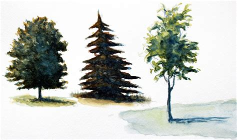 different color trees how to paint trees with watercolor
