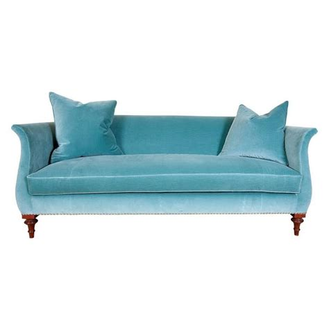 sectional sofa nailhead trim hickory chair blue velvet sofa with nailhead trim at 1stdibs
