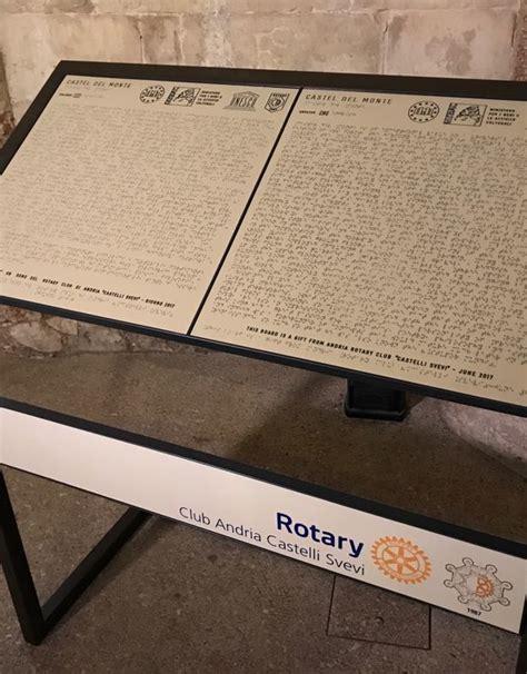 tavola braille sand italia tavole braille a castel monte