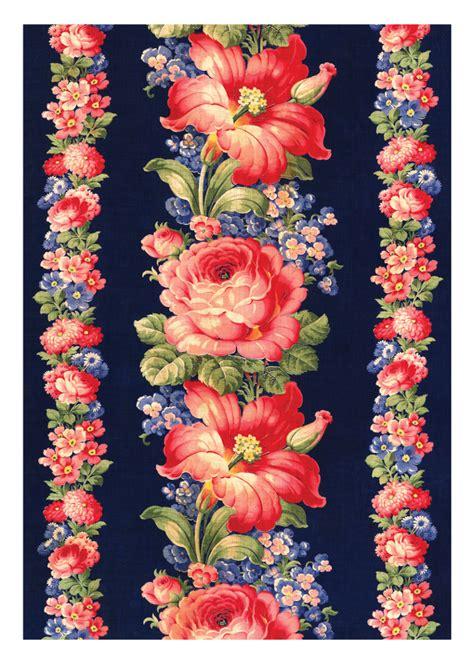 flower design textile notecards susan meller