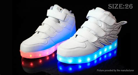 26 30 Wings Led Shoes 35 66 unisex led light up wings decorative shoes sneakers size 26 white 16 led 7