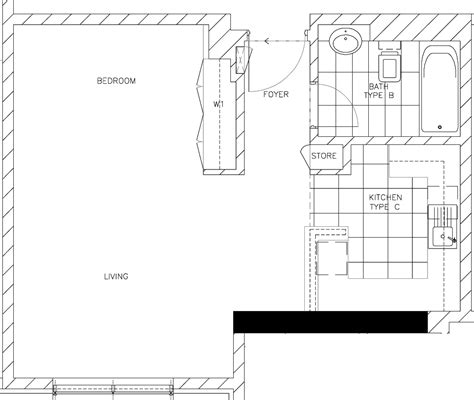 floor plan studio type delta properties bunyan tower