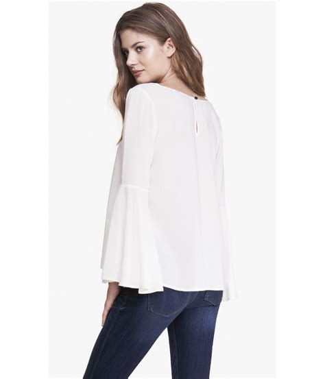 Bell Sleeve Blouse lyst express bell sleeve blouse in