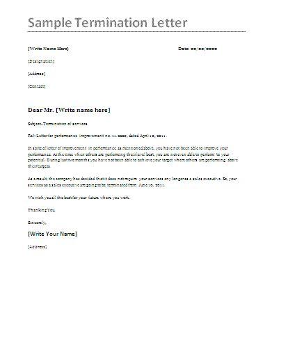cancellation letter media printable sle termination letter sle form real