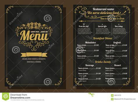 design menu vintage restaurant food menu vintage design with chalkboard