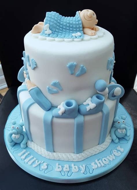 Baby Shower 2 Tier Cakes by Baby Showers Christenings Cupcakes Kent Rochester