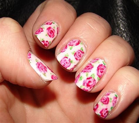 easy nail art roses 9 simple and easy rose nail art designs with images
