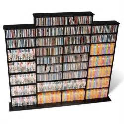 Dvd Rack Wall Quad 64 Quot Cd Dvd Wall Media Storage Rack In Black Bma 1520 K