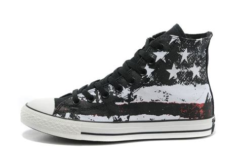 converse american flag sneakers cool converse american flag high tops black white