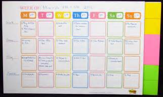 planner com post it weekly planner calendar review officesupplygeek