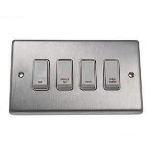 eurolite stainless steel satin stainless 4 gang 20amp dp