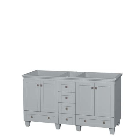 28 inch double kitchen sink accmilan 60 inch double sink bathroom vanity in grey finish