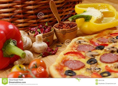 free table pizza royalty free stock image pizza on the table image 23012166